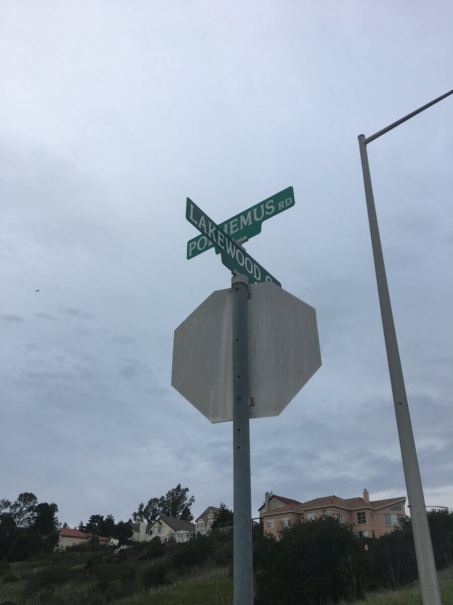 Street signs at an intersection